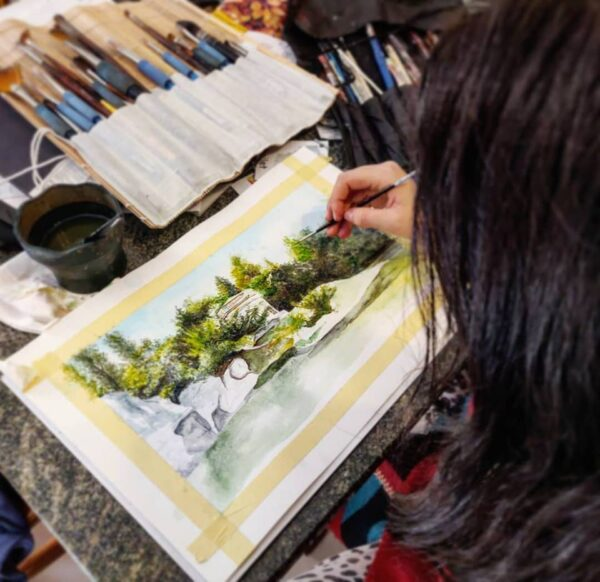 Watercolour painting with Kelsey May Connor | Art Classes Malta