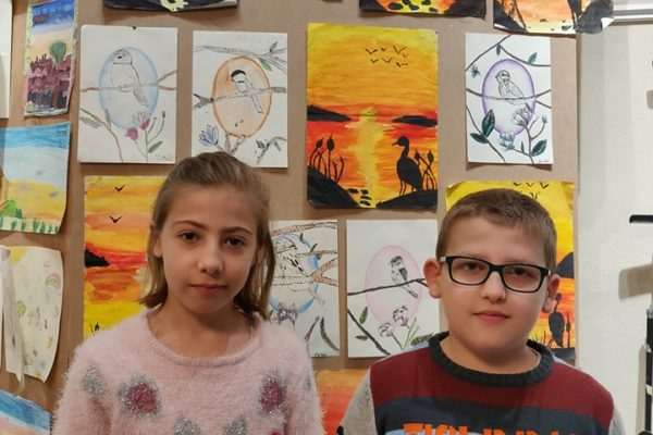 Art works by young art students - Children Drawing and Painting course | Art Classes Malta