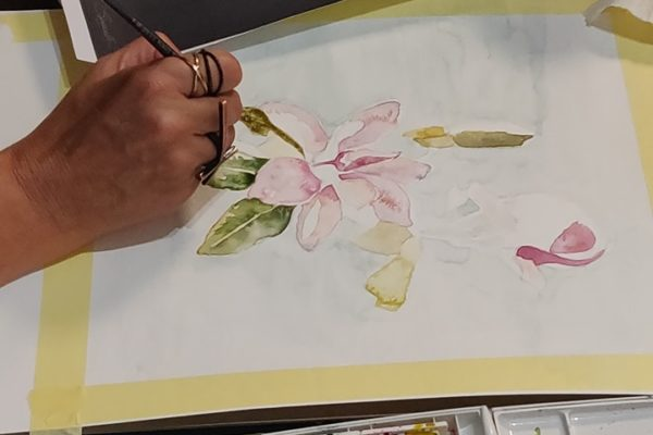 Student work- Watercolour painting Malta / Art Classes Malta