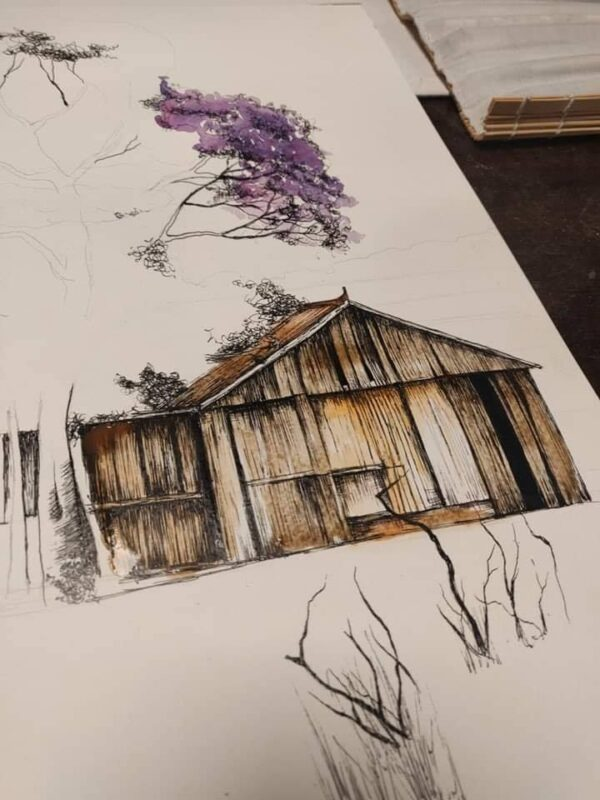 Student work- Watercolour painting Malta / Art Classes Malta