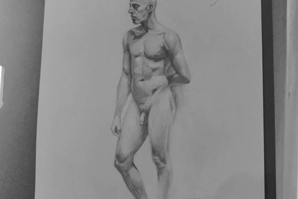 Figure Drawing Malta - Demo work by Instructor Kelsey May Connor