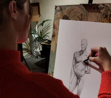 Figure Drawing Malta - work by Classical Art student