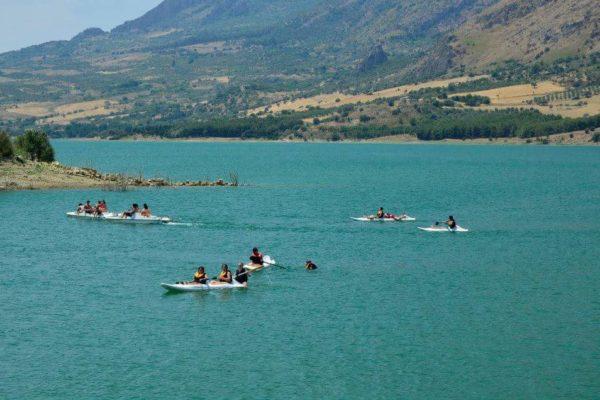 Caccamo lake boats