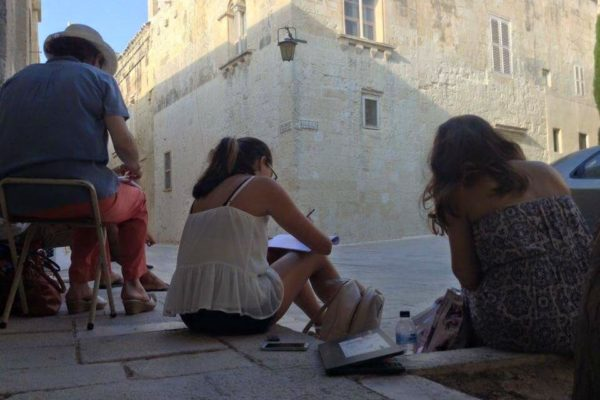 En Plein Air painting in Malta - Art Classes Malta